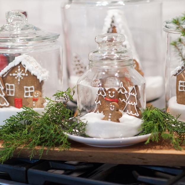 Gingerbread cookies in jar
