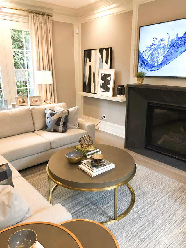Contemporary living room styling