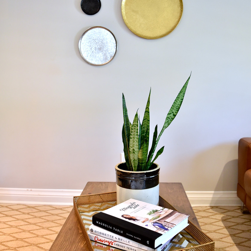 Casual coffee table styling