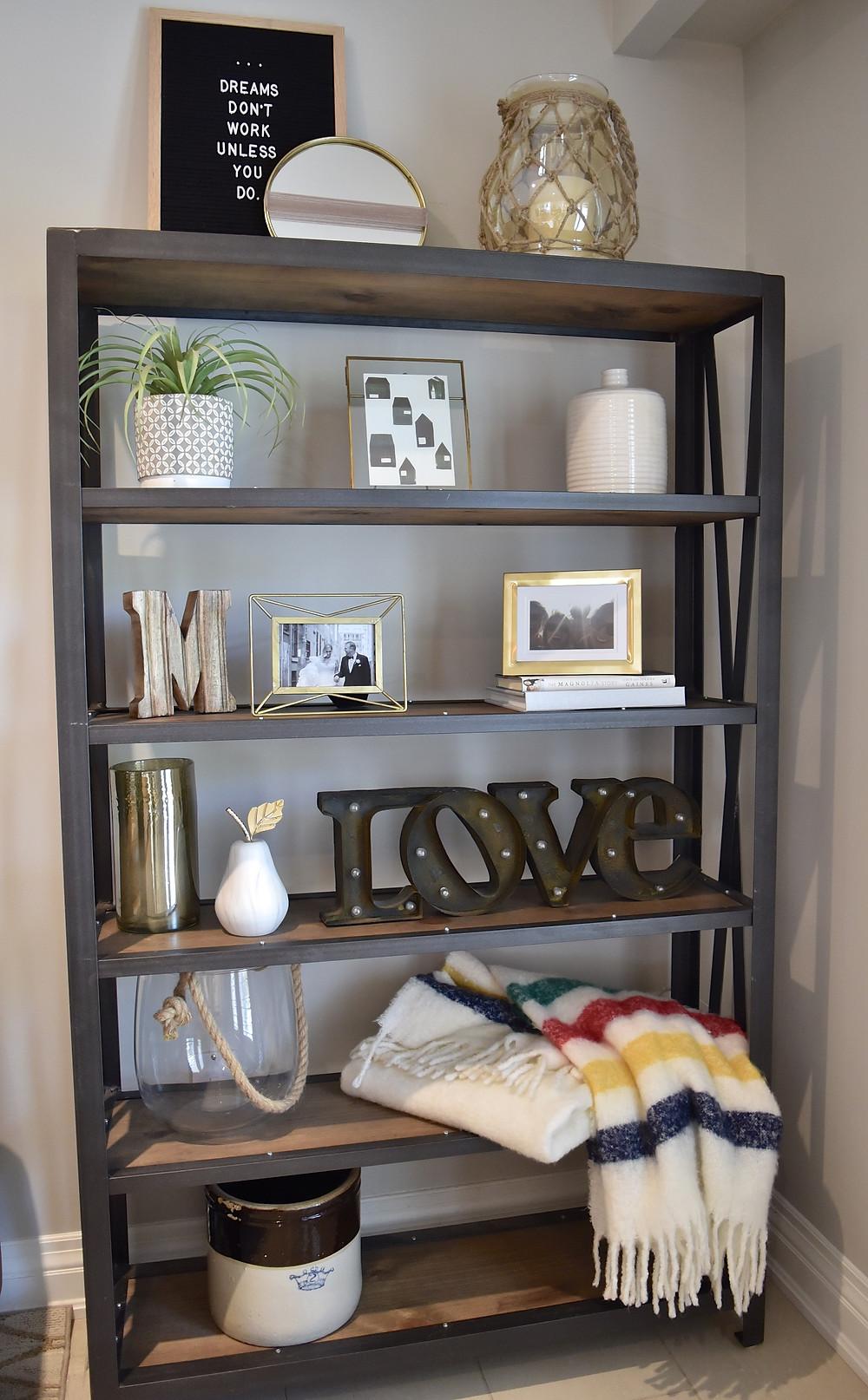 Shelfie bookcase styling