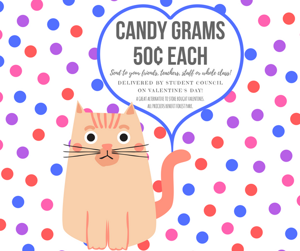 Order Candy Grams by February 9