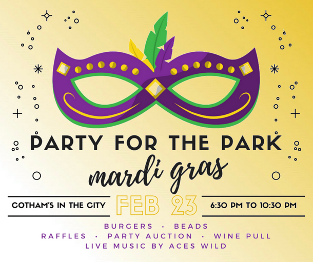 Tonight's the Night!  Party for the Park at Cotham's in the City