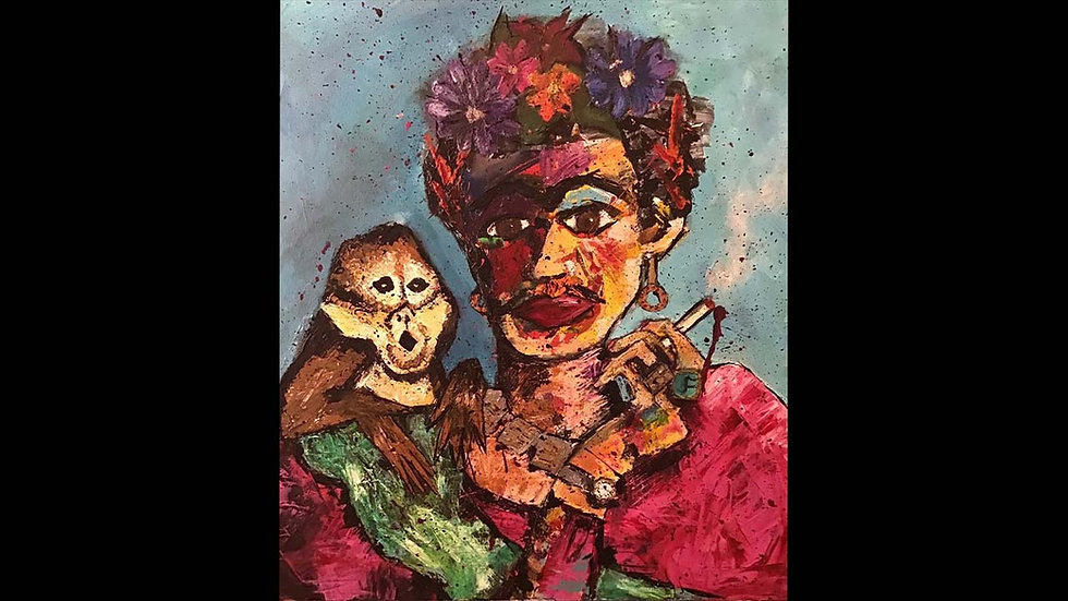 """Frida and her Monkey"""