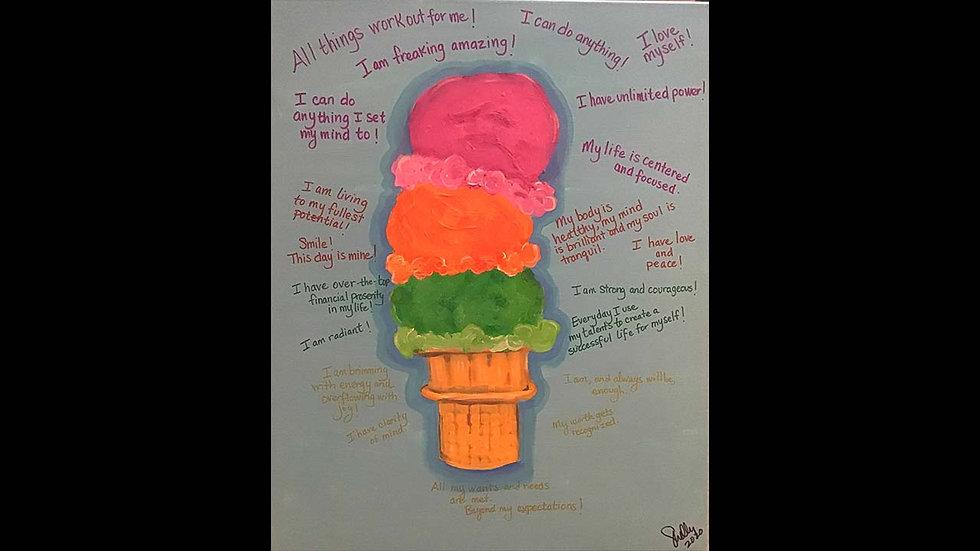 """""""Ice Cream Cone Affirmations"""""""