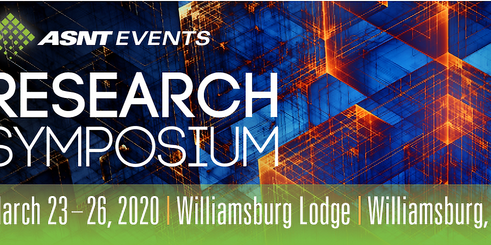 ASNT Research Symposium 2020
