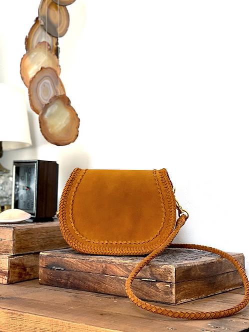 Leather Pochette-Camel