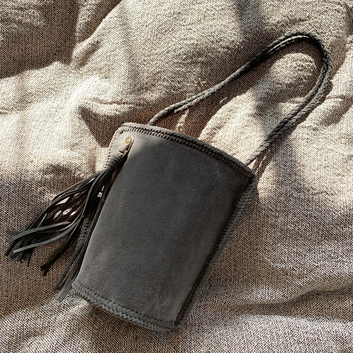 Daily Bucket Leather Bag-Concrete