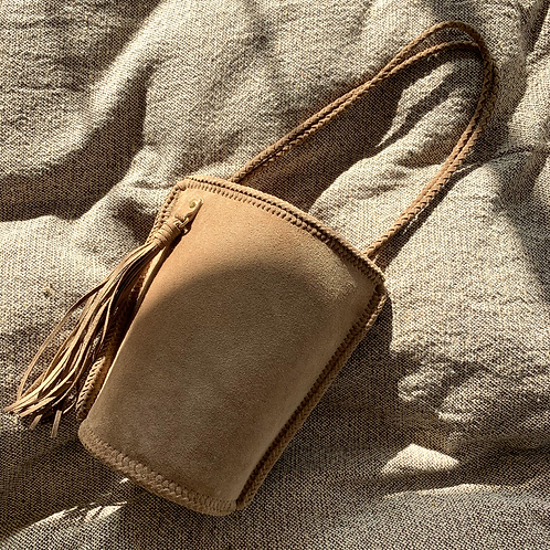 Daily Bucket Leather Bag-Coconuts Brown