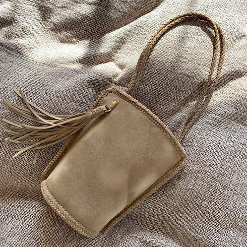 Daily Bucket Leather Bag-Stone