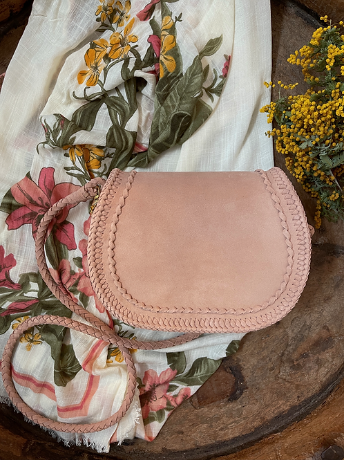 Leather Pochette-Ocre Pink