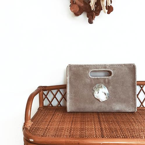 Hole Handle Leather Bag