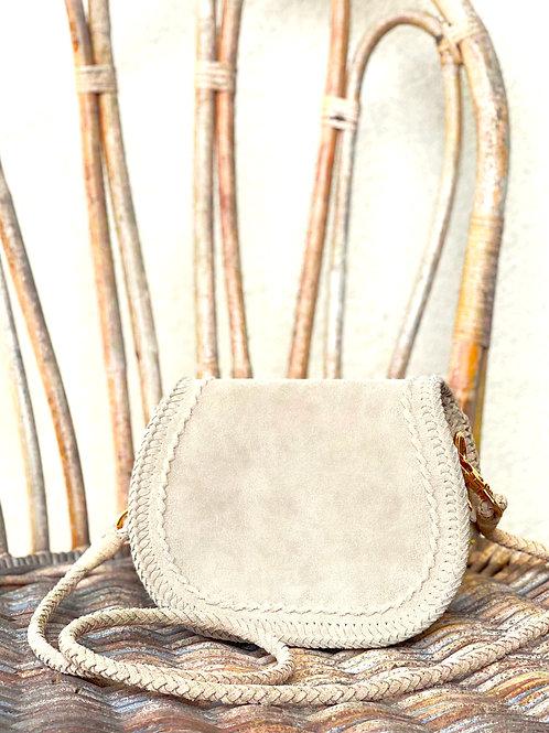 Leather Pochette-Sand