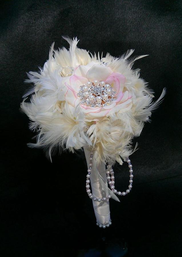 """Tickled Pink"" Brooch Bouquet"