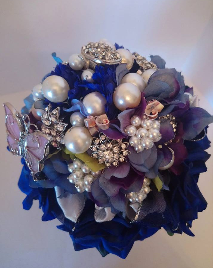 """""""Something Blue"""" Brooch Bouquet"""