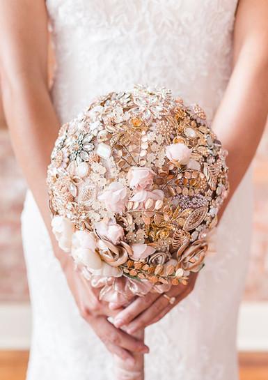 """Rose Gold Dreams"" Brooch Bouquet"