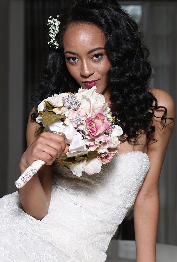 """""""Jewels & Flowers"""" Brooch Bouquet"""