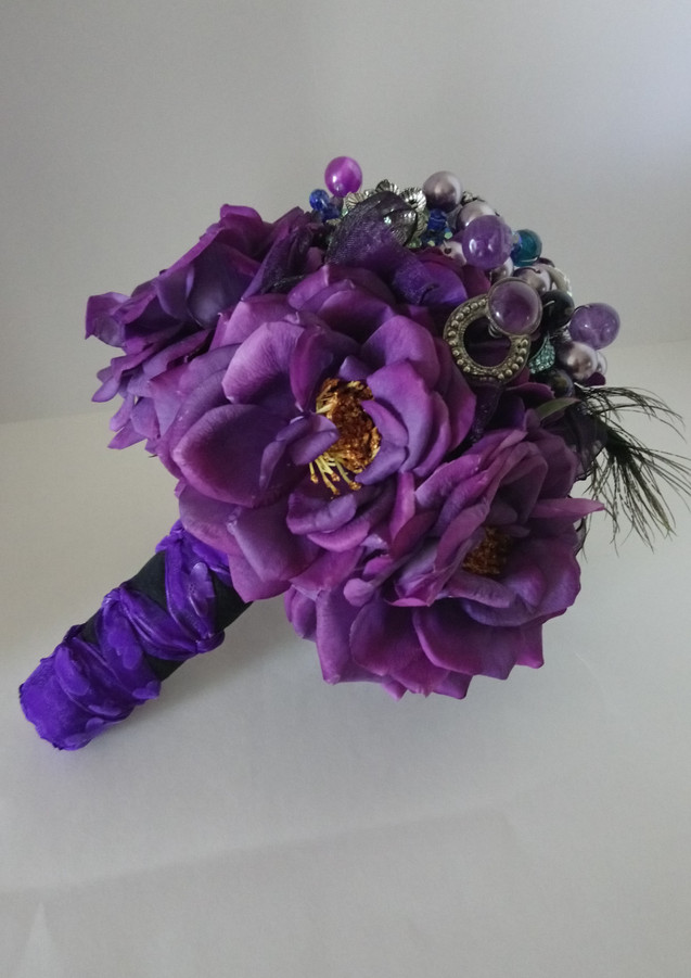 "'Purple Passion"" Brooch Bouquet"
