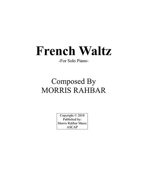 French Waltz - Sheet Music