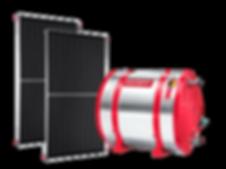 Coletor solar e Reservatório térmico