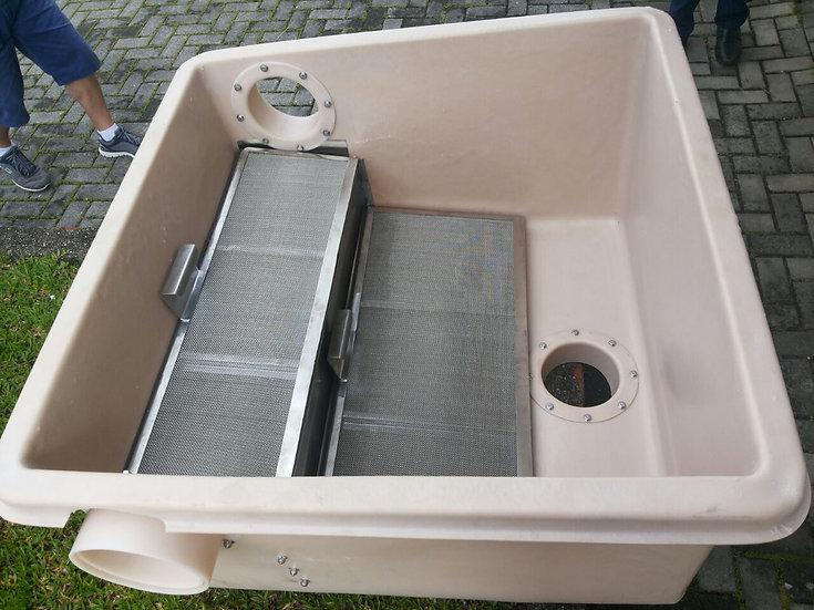 Filtro industrial aproveitamento de água de chuva 3000 m² leveza e robustez