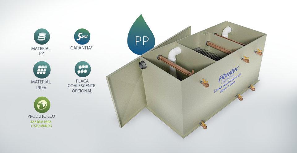 Caixa separadora água e óleo c/  placa coalescente