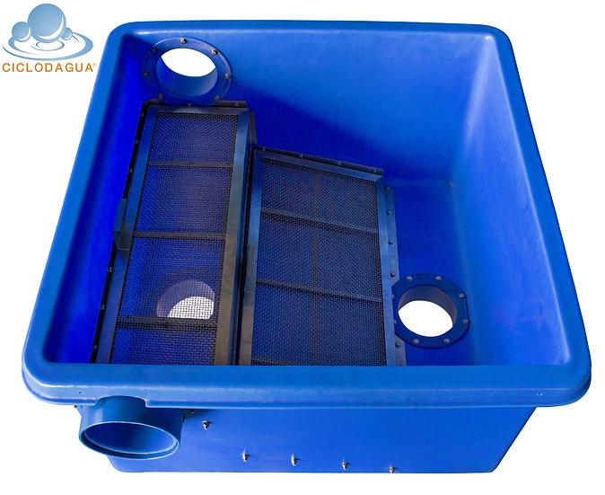 Filtro industrial aproveitamento de água de chuva 2000 m² leveza e robustez