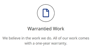 Warranty work for our remodeling services