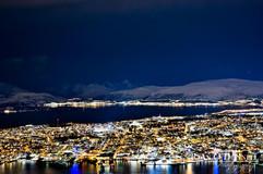 Tromso Norway at night