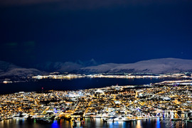 Tromso Norway at night