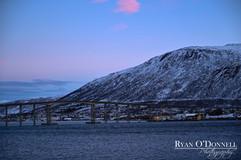 Tromso Norway at dusk