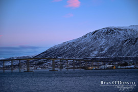 Tromso Norway at dusk