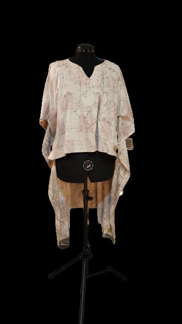 טוניקה חולצאית בז' עם הדפס