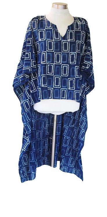 טוניקה חולצאית כחול אינדיגו