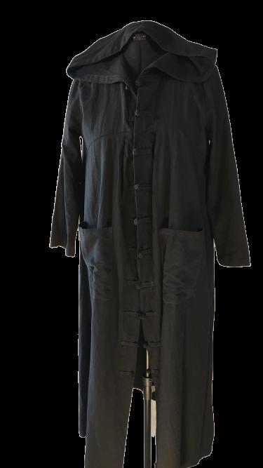 מעיל כותנה/ קימונו שחור