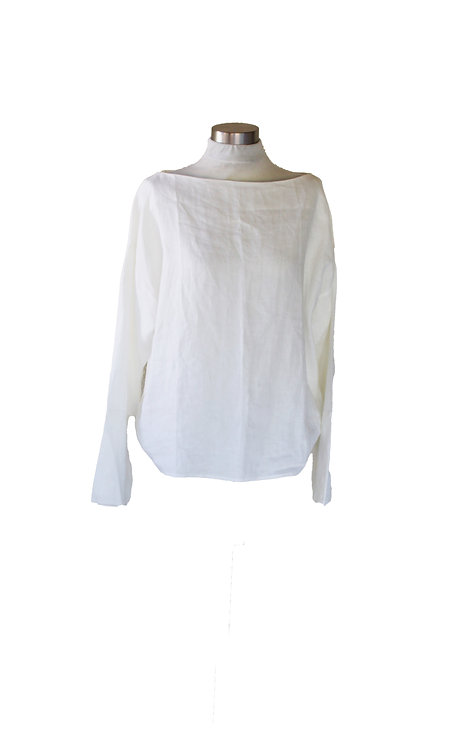 חולצה לבנה שרוול מתרחב