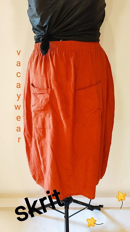חצאית כותנה / חמרה