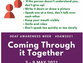 Deaf awareness week 3rd May- 9th May 2021