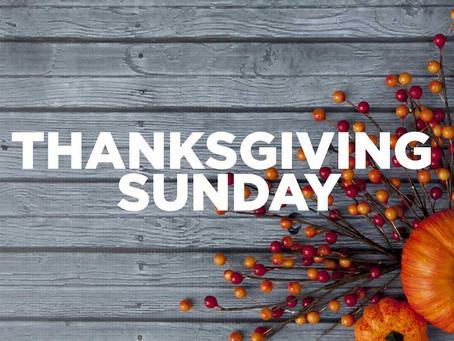 """November 24, 2019: """"The Power of Gratitude"""""""