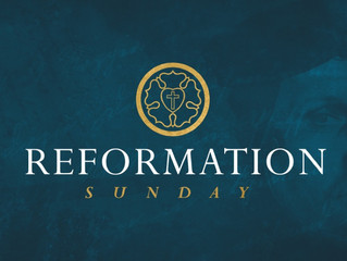 October 27, 2019: Reformation Sunday!