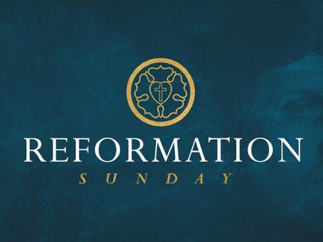 October 27, 2019: Reformation Sunday!