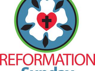 October 29, 2018: Reformation Sunday