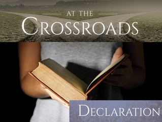 """March 26, 2017--The Fourth Sunday of Lent: """"Declaration"""""""
