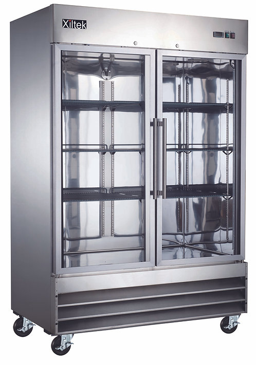 Two Glass Door Reach-In Freezer