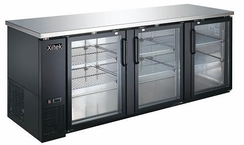 27″ Depth 90″ Three Glass Door Back Bar Refrigerator