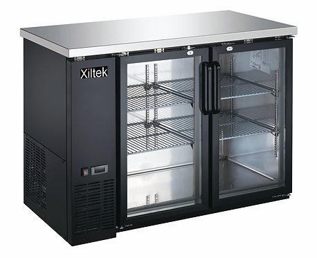 24″ Depth 48″ Two Glass Door Back Bar Refrigerator