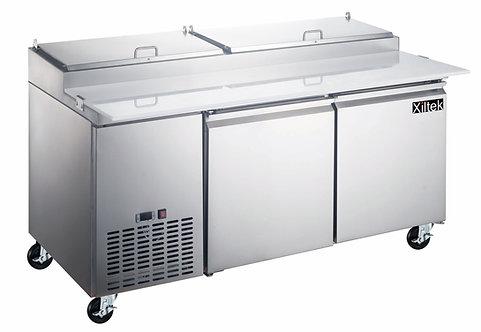 71″ Two Door Pizza Prep Refrigerator