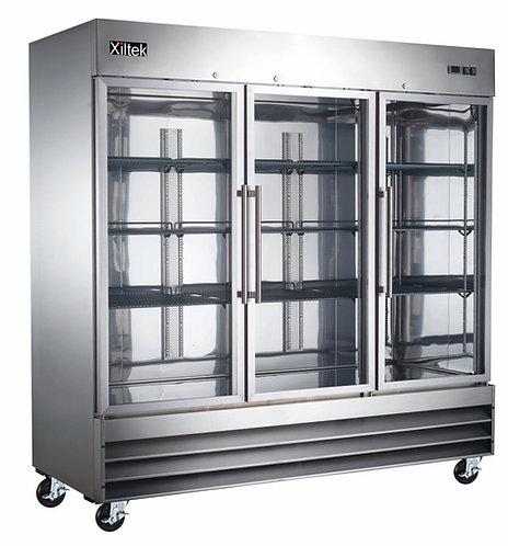 Three Glass Door Reach-In Refrigerator