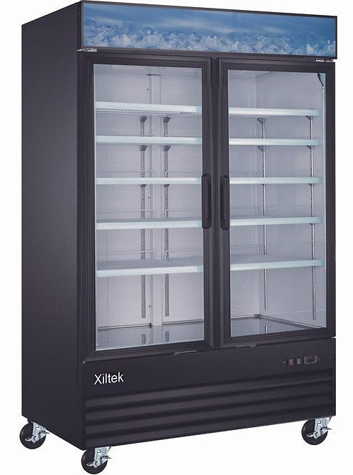 """53"""" Double Swing Glass Door Merchandiser Refrigerator"""