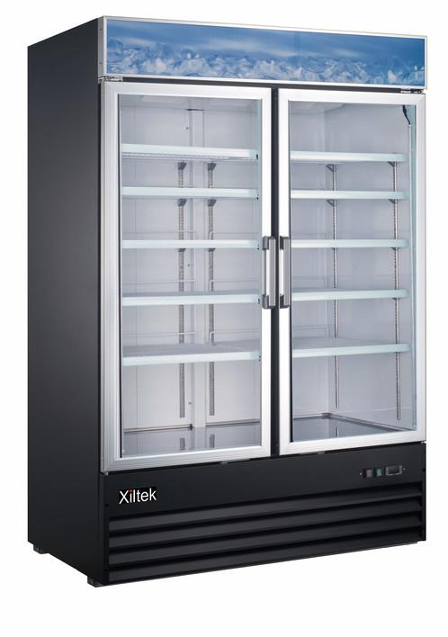 53 Double Swing Glass Door Merchandiser Refrigerator Xiltek