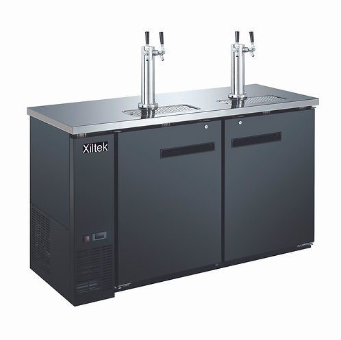 "24"" Depth 60″ Beer Dispenser with (2) Double Tap"